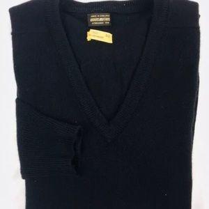 Brooks Brothers 1818 Pure Cashmere V-neck L Large